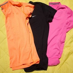 Bundle of Nike Dri-Fit V-Necks